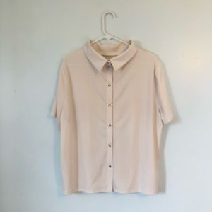 H&M Reversed Collar Shirt w/ Buttons at Back XL